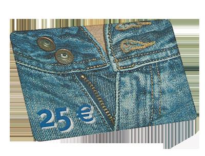 Plastikkarte mit besonderer Oberfläche: Spezieller Druck imitiert Jeansstoff