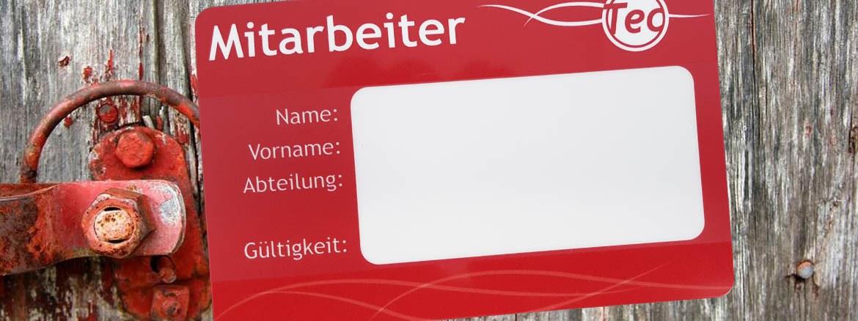 Wiederbeschreibbare Plastikkarten - TRW Karten