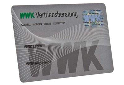 plastic card with custom-made hologram
