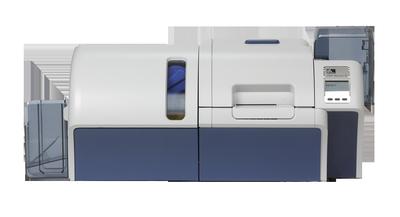 Kartendrucker, aufgerüstet mit Laminator
