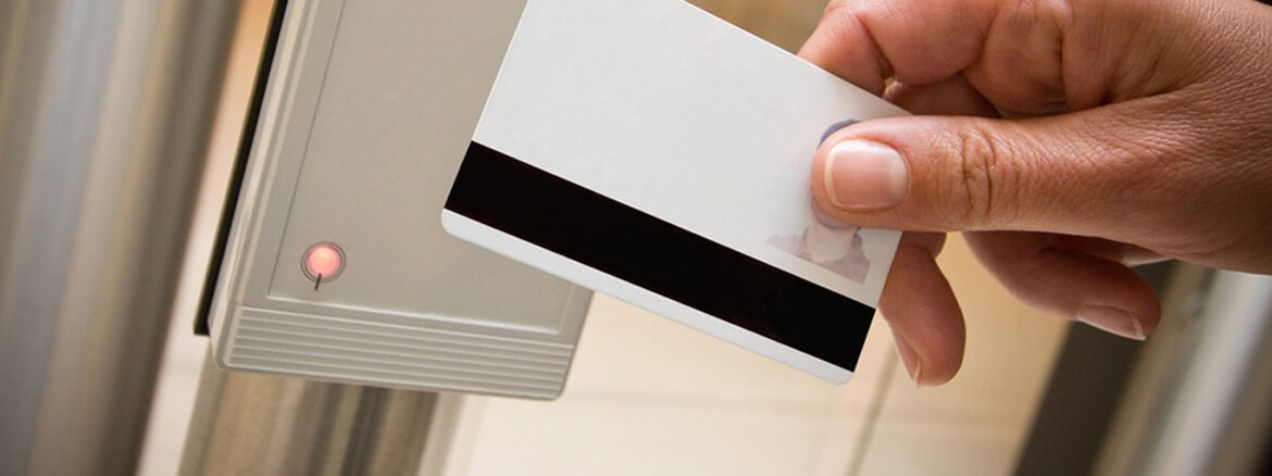Magnetic stripe card and card reader for identification
