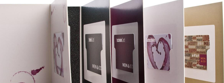Verpackungen für Kunden- und Geschenkkarten