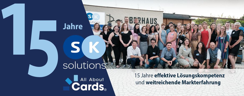 Firmenjubiläum 15 Jahre S&K Solutions Banner