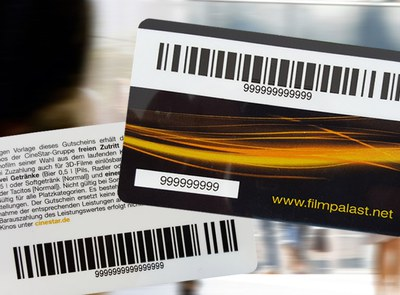 re-writeable plastic card