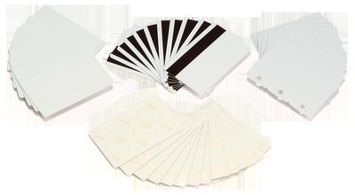 Plastikkarten blanko - Plastikkarten-Rohlinge weiß und farbig