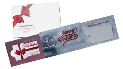Zu Weihnachten: Schub- und Zug-Verpackungen mit Umschlägen