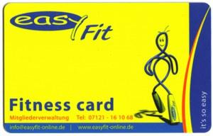 Fitnessstudio-Mitgliedskarte Easy-Fit