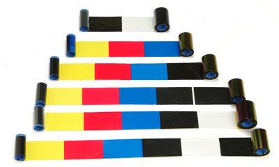 colour ribbons for plastic cards