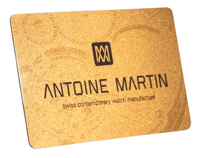 warranty card, used in the field of watches