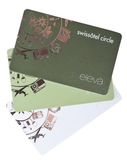 Kartenmuster filigraner Hotstamp Swissotel