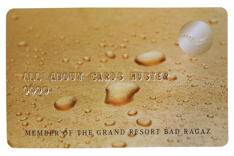 Plastikkarte mit Hochprägung Grand Resort Bad Ragaz.jpg