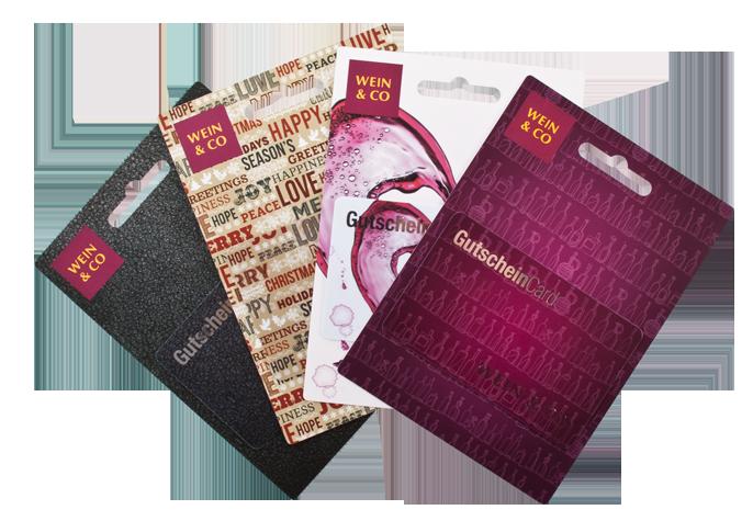 Karten verpacken - Kartenträger Wein & Co