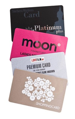 plastic cards for customer loyalty