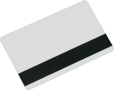 Blank magnetic stripe card