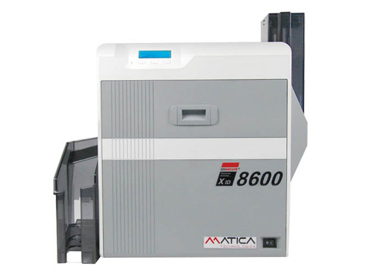 Print plastic cards with the card printer Matica XID 8600