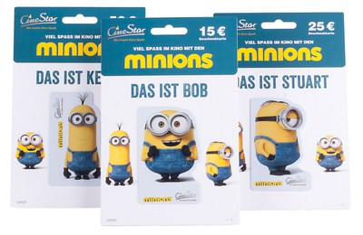 """CineStar-gift cards """"Minions"""" - special shaped cards"""