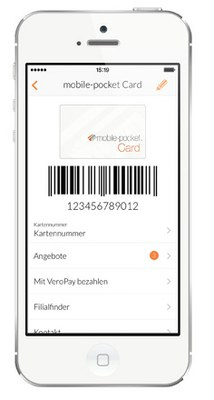 setting up a loyalty card on the smartphone - mobile pocket