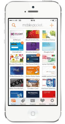 overview of loyalty cards on the smartphone - mobile pocket