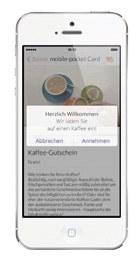 Beacons-Meldung auf dem Smartphone - mobile pocket