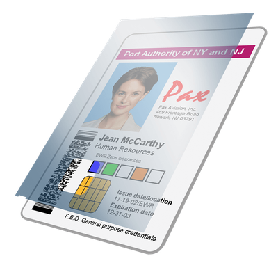 plastic card with overlay