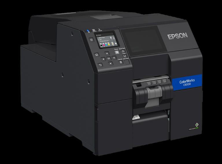 Epson ColorWorks C6000 rechts mit Peeler
