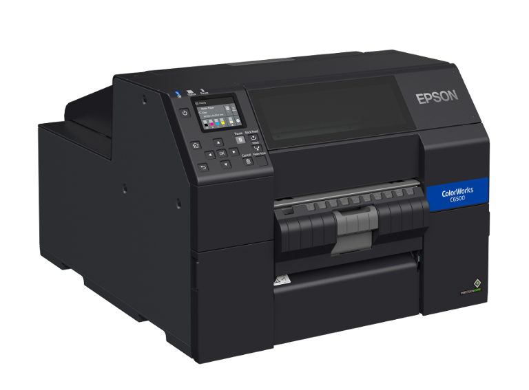 Epson ColorWorks C6500 rechts mit Peeler