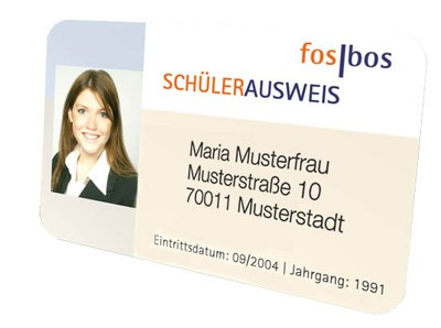 Sample student ID-card
