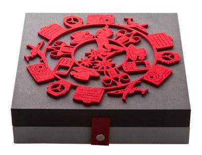 Swissotel Box with decor felt and magnetic closure