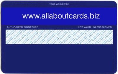 Plastic card with signature panel