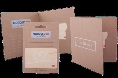 Verpackungsset für Geschenkkarten: Kartentäschchen, Kartenträger und Klappkarte