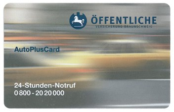 insurance card in automobile business